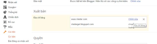Trỏ domain về blogspot