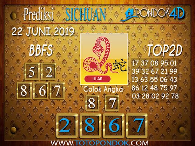 Prediksi Togel SICHUAN PONDOK4D 22  JUNI 2019