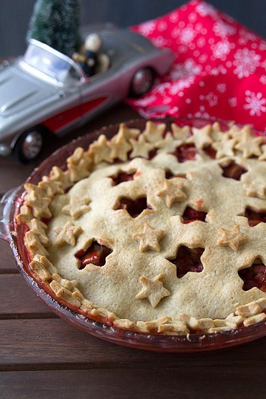 El gato goloso: recetas de Navidad -  Pie de fresas y ruibarbo