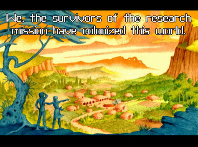 Screenshot of intro to Star Control 2