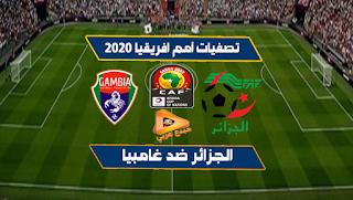 مشاهدة مباراة الجزائر وغامبيا بث مباشر 22/03/2019 تصفيات امم افريقيا 2020