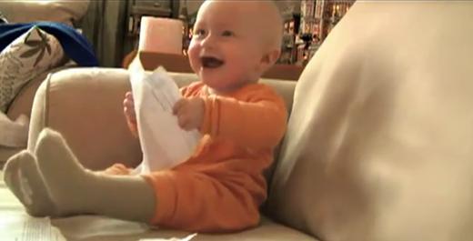 risada do bebe do itau