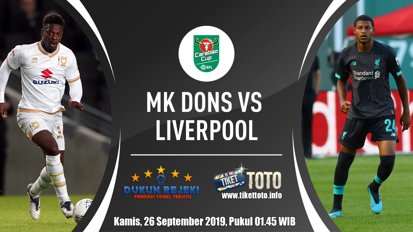 Prediksi EFL Cup MK Dons VS Liverpool 26 September 2019