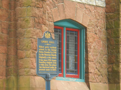 Linden Hall Historical Marker in Lititiz Pennsylvania