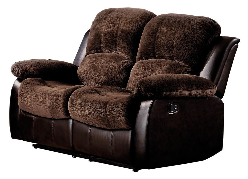 Brown Plush Microfiber Catner Recliner Sofa Reviews