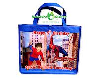 tas ultah,tas ultah anak,tas souvenir ultah,tas ulang tahun,tas ultah spiderman