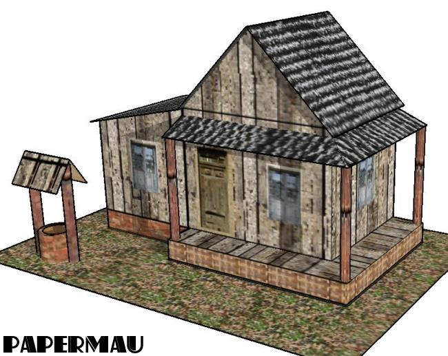 Papermau old country house paper model beta version for Building model houses