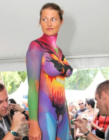 Full Body Paint Art Project Ideas And Craft Ideas