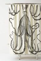 anthropologie octopus shower curtain