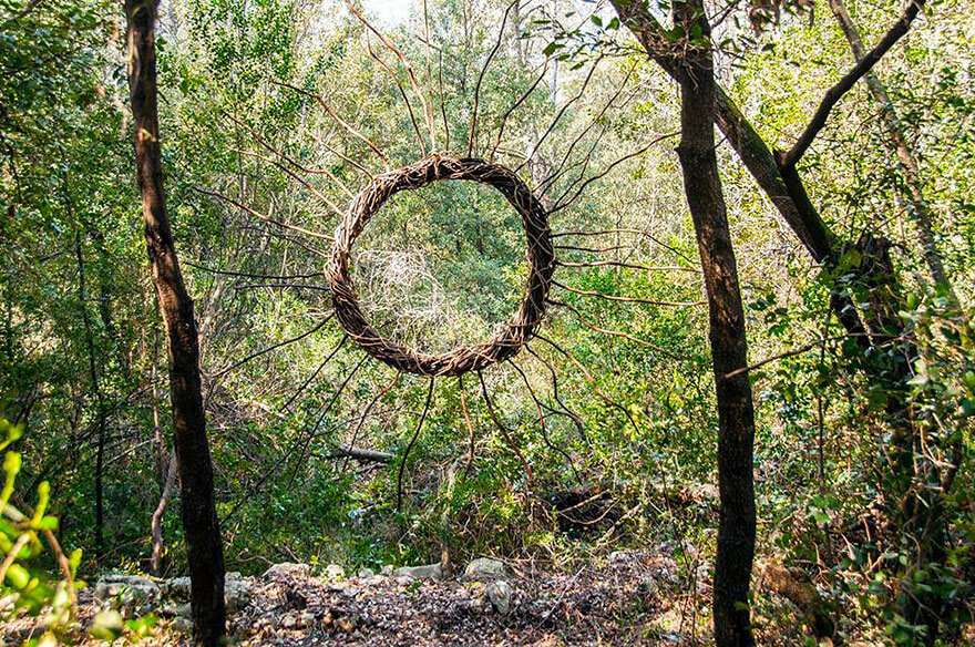 Artist Spent One Year All Alone In The Woods To Create Amazing Surreal Sculptures Using Organic Materials