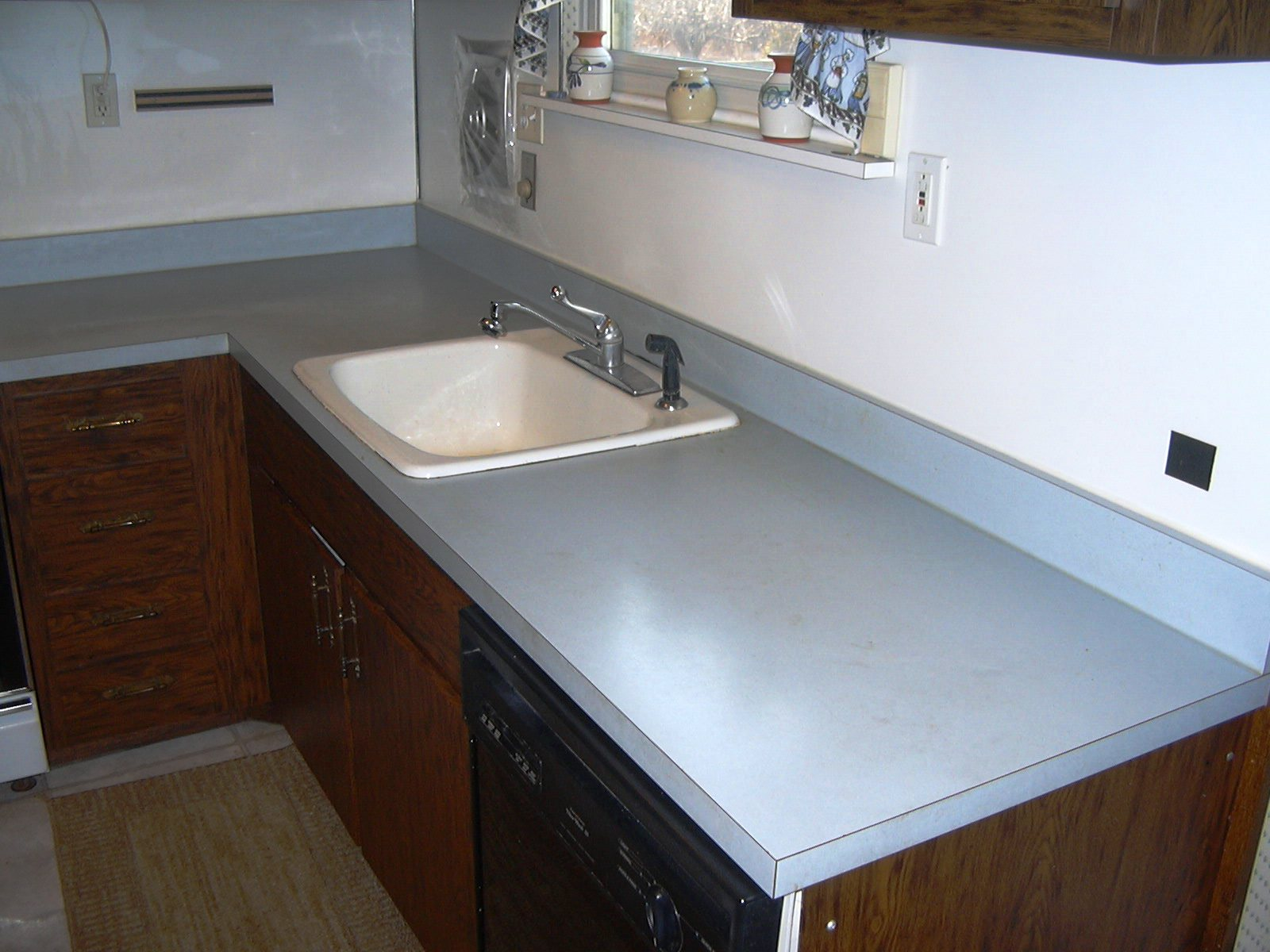Our Countertop Was In Great Shape Structurally, But Had Many Superficial  Scratches And Stains. The Color Also Did Not Go With The Laminate Floor We  Put In A ...