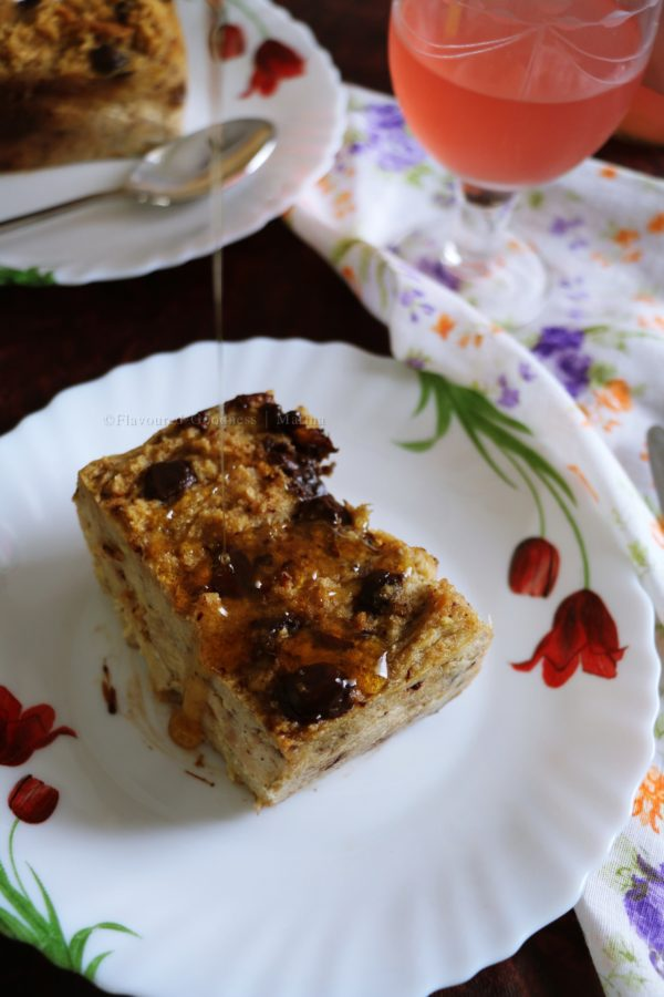 how to make Chocolate Banana Bread Pudding