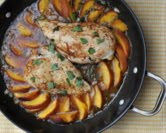 Baked Chicken with Fresh Peaches