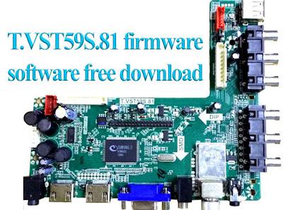 T.VST59S.81 firmware/software free download (USB Updater file) TSUMV59XTS-Z1 .