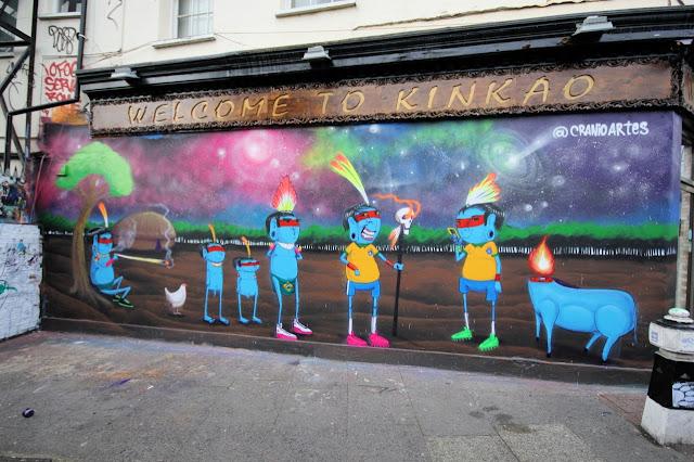 Street Art Mural By Brazilian Artist Cranio In East London, UK. 8