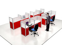 Meja Sekat Partisi Cubicle Workstation