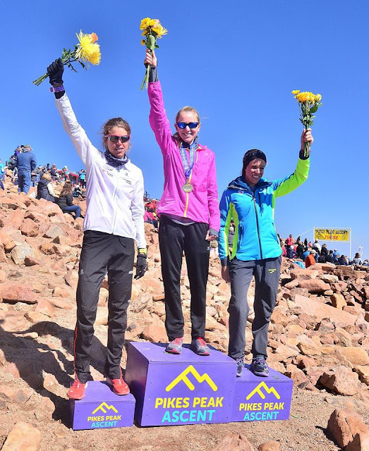 Podio Pikes Peak Ascent Femenino