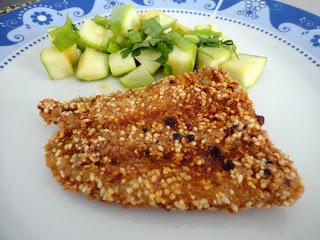 Resultado de imagem para peixe empanado no forno com gergelim