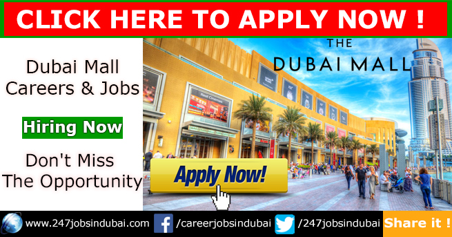 Hiring Now at Dubai Mall and Careers Opportunities