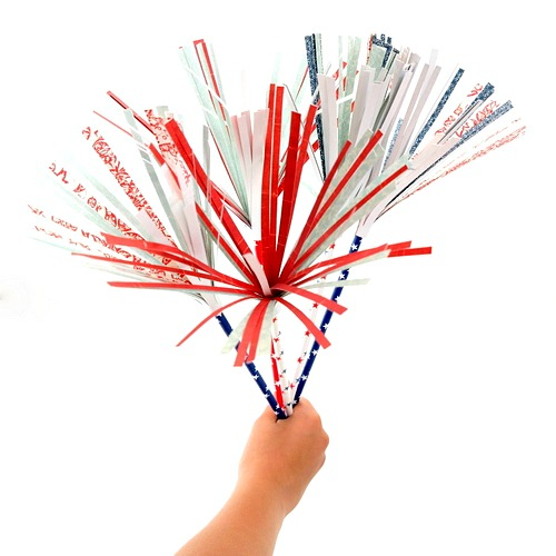 DIY Red White and Blue Paper Sparklers