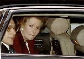 Margaret Thatcher in car