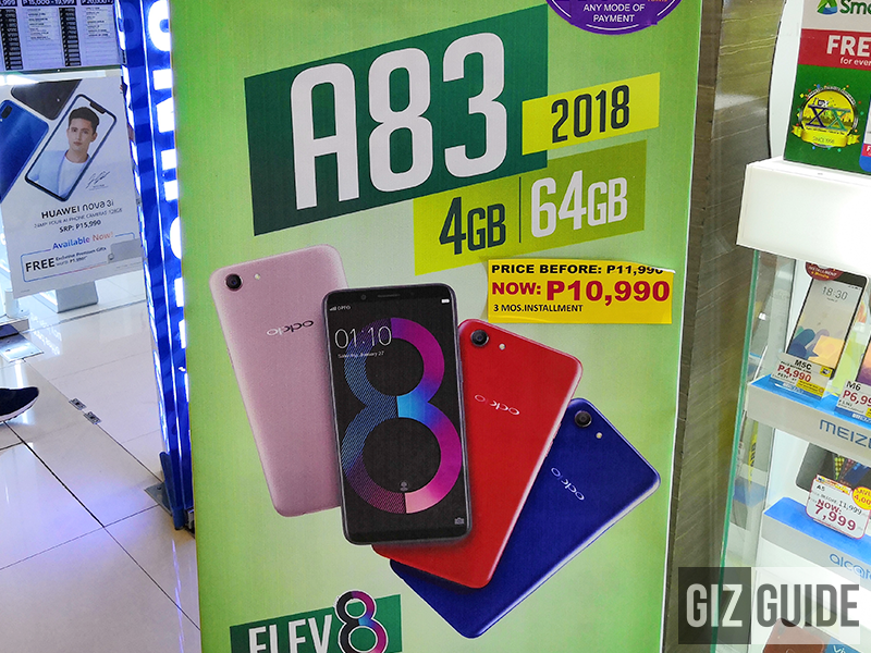 Sale Alert: OPPO A83 2018 with 4GB RAM is now priced at just PHP 10,990 at MemoXpress