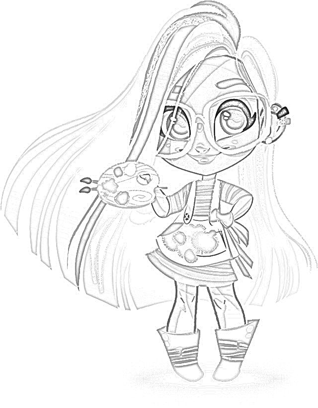 coloring pages  hairdorables coloring pages free and