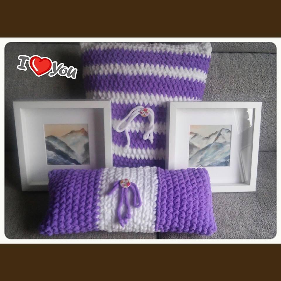 Trapillo a todo trapo cojines de crochet for Cojines de trapillo
