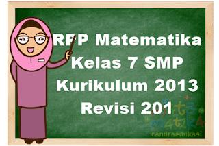 RPP Matematika Kelas 7 SMP Kurikulum 2013 Revisi 2018