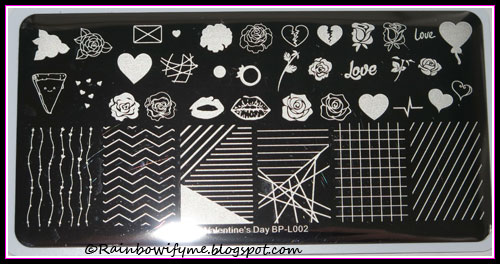 Born Pretty stamping plate Valentine's Day BP-L002