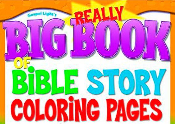 Historias Bíblicas para Colorear   Really Big Book of the Bible ...