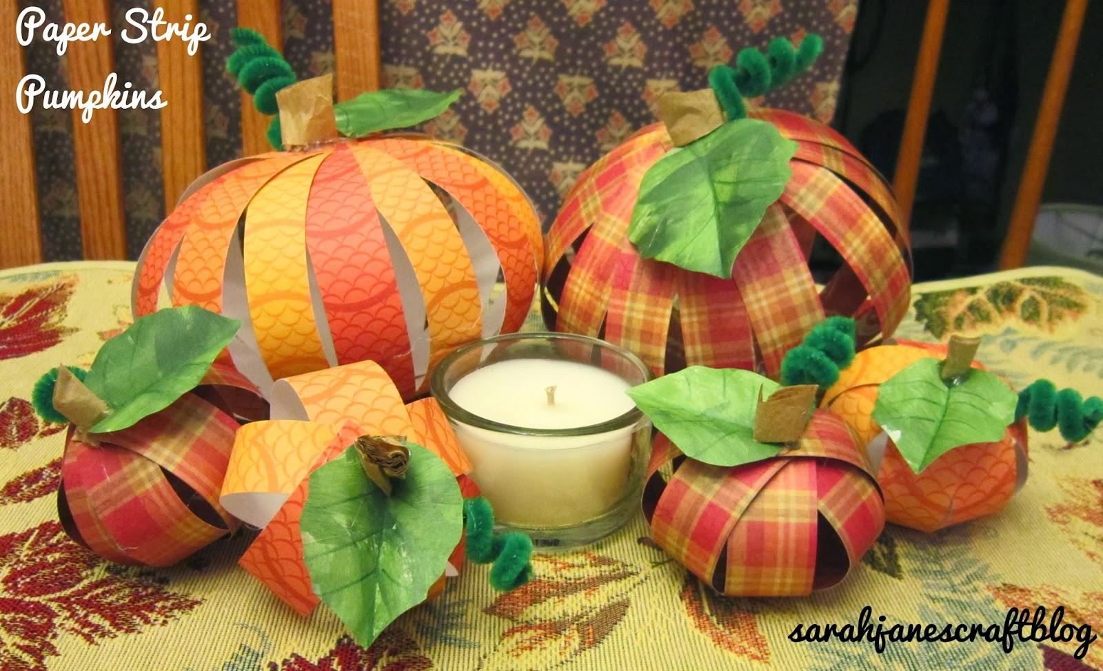 Sarah Jane S Craft Blog Paper Strip Pumpkins
