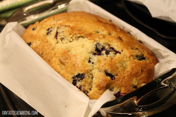 Blueberry Nut Bread #recipe #blueberry #bread