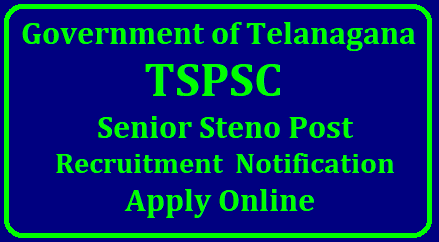 TSPSC 19 Senior Steno Post Recruitment TSPSC Notification is out. TSPSC is recruiting for 19 Senior Steno Post Posts. You can check TSPSC - Telangana State Public Service Commission last date, download TSPSC notification, visit TSPSC official website and check other TSPSC Vacancy details.Complete Vacancy and recruitment Details about 19 Senior Steno Post vacancies in TSPSC are provided below for you. Details About TSPSC 19 Senior Steno Post Recruitment/2018/06/tspsc-19-senior-steno-post-recruitment-notification-apply-online-tspscsrst.tspsc.gov.in.html
