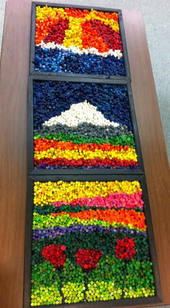 Rethink Crafts Crayon Mosaic