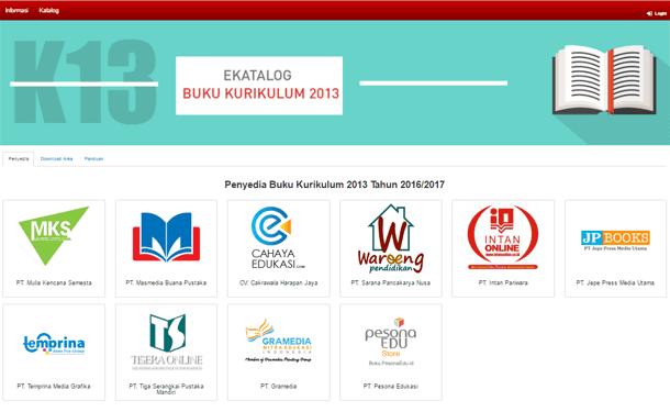 e-Katalog Penyedia Buku Kurikulum 2013