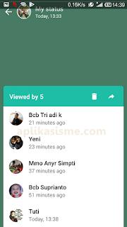 Cara mengecek orang yang sudah melihat status whatsapp kita