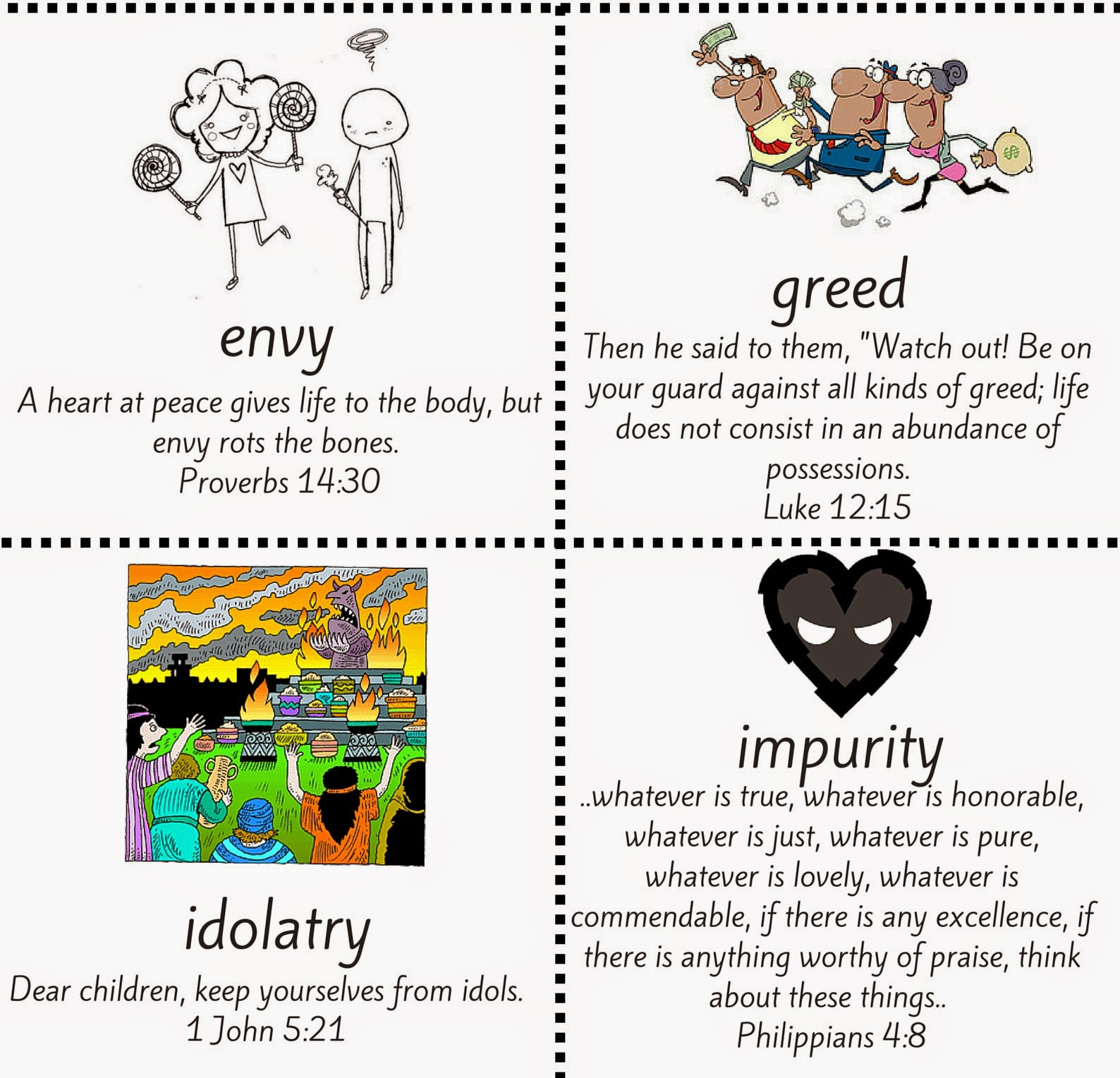 Free From Evil Printable Activity With Bible Verses