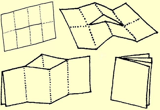 le quotidien pratique fabriquer un carnet en feuilles de brouillon. Black Bedroom Furniture Sets. Home Design Ideas