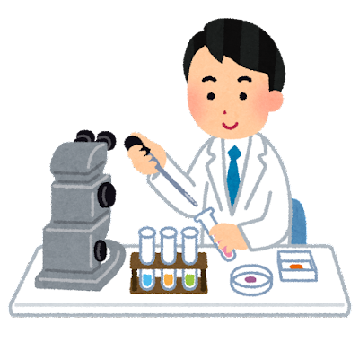 理科の実験のイラスト