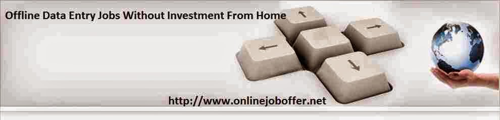 Data entry work at home jobs no fees