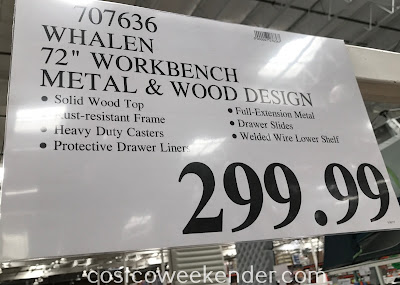 Deal for the Whalen Industrial Metal and Wood Workbench at Costco