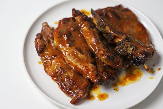 Μπριζόλες με BBQ Sauce