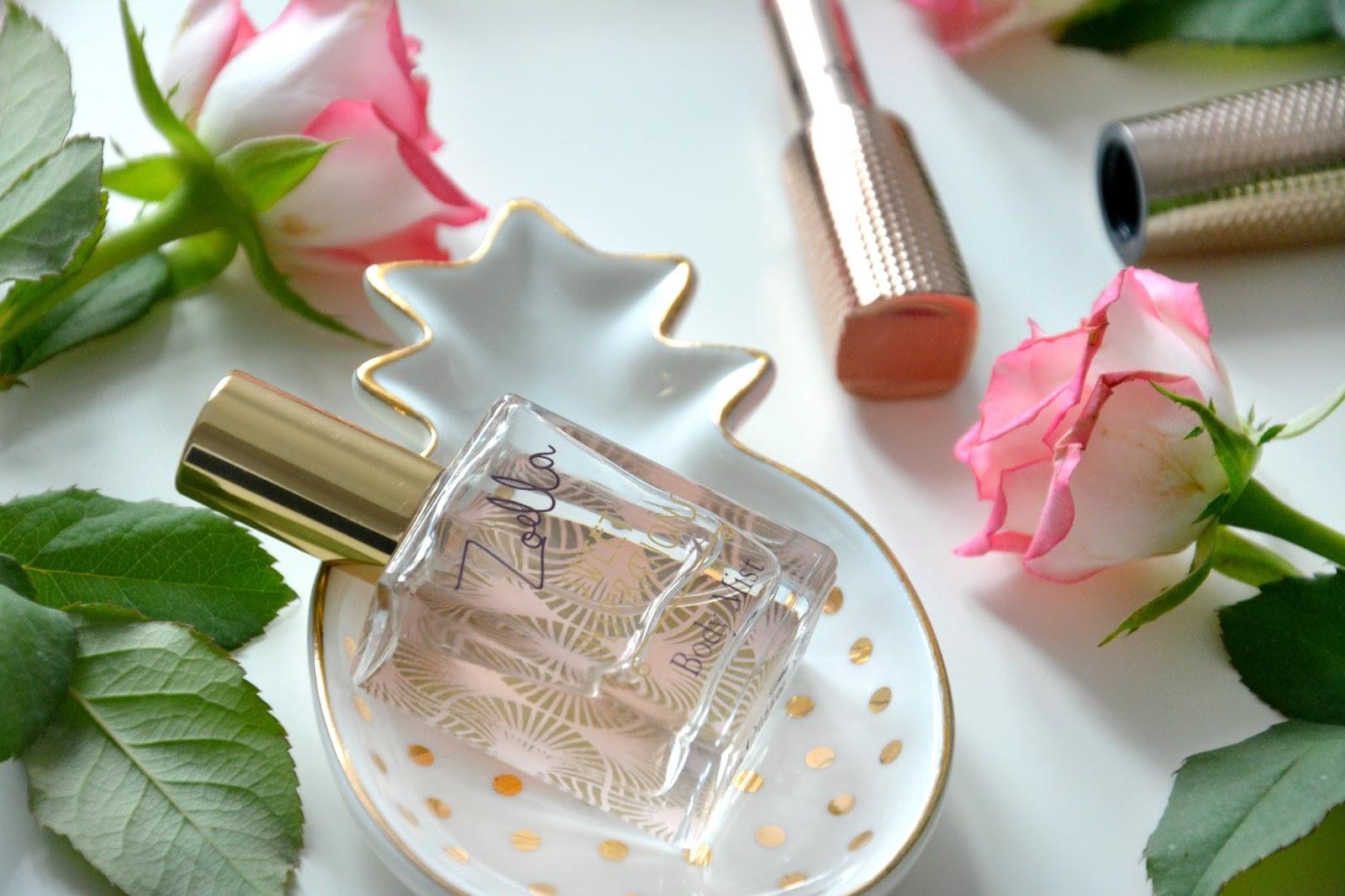 Zoella Sweet Inspirations Beauty Mist; Kiko Lipstick; Fresh Pink Roses