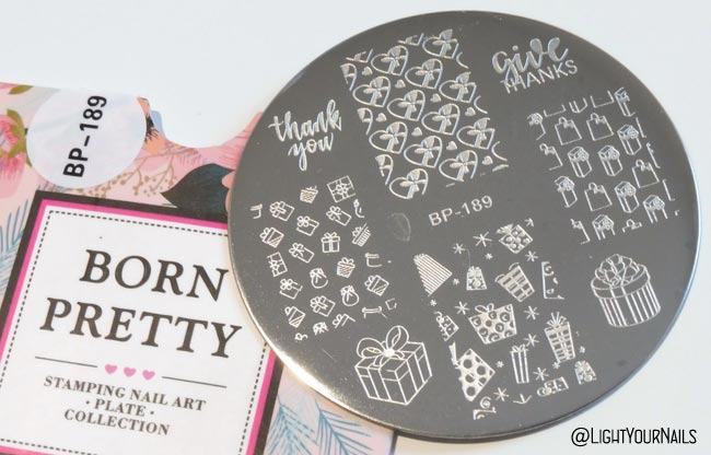 BP-189 Christmas Valentine's Thanksgiving nail stamping plate at Bornprettystore
