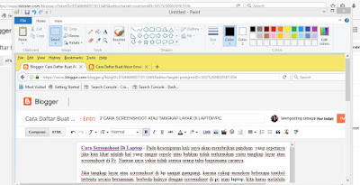 cara screenshoot di laptop