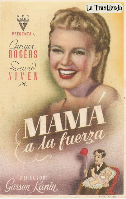 Mamá a la Fuerza - Folleto de cine - Ginger Rogers - David Niven - Charles Coburn