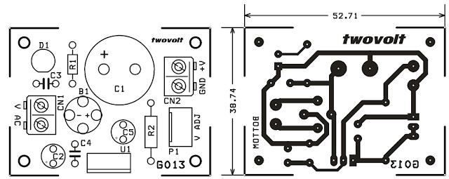 الرسم لطباعة الدائرة