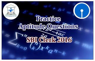 SBI Clerk 2016- Practice Aptitude Questions (Number Series)