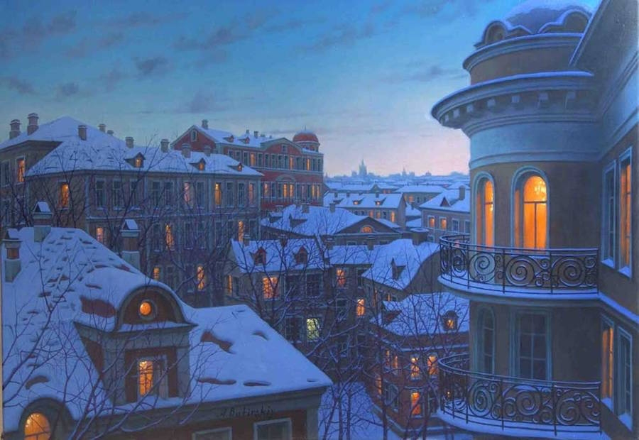 20-Alexey-Butyrsky-Architecture-in-Paintings-of-Cityscapes-at-Night-www-designstack-co